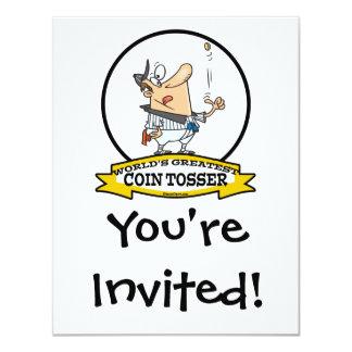 WORLDS GREATEST COIN TOSSER CARTOON CARD