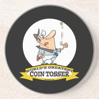 WORLDS GREATEST COIN TOSSER CARTOON COASTERS