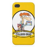 WORLDS GREATEST COLLEGE GRAD MEN CARTOON COVER FOR iPhone 4