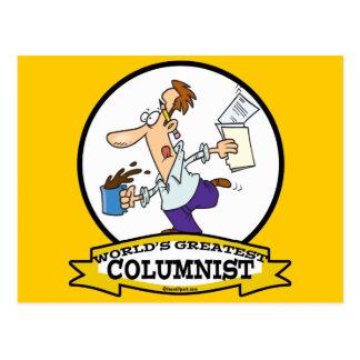 WORLDS GREATEST COLUMNIST MEN CARTOON POSTCARD