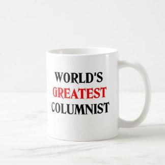 World's Greatest Columnist Classic White Coffee Mug