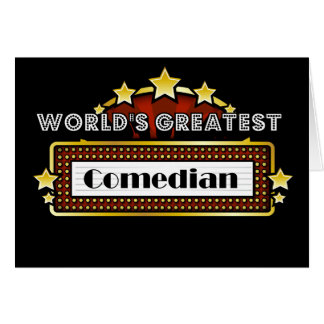 World's Greatest Comedian Card