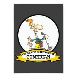 WORLDS GREATEST COMEDIAN MEN CARTOON CARD