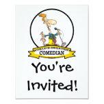 WORLDS GREATEST COMEDIAN MEN CARTOON 4.25X5.5 PAPER INVITATION CARD