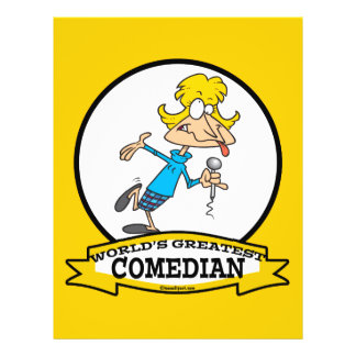 WORLDS GREATEST COMEDIAN WOMAN CARTOON CUSTOM FLYER
