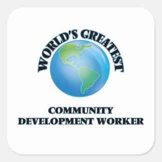 World's Greatest Community Development Worker Sticker