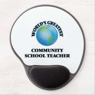 World's Greatest Community School Teacher Gel Mousepad