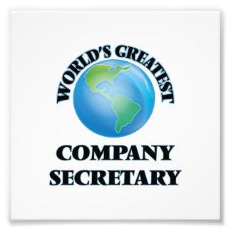 World's Greatest Company Secretary Photograph