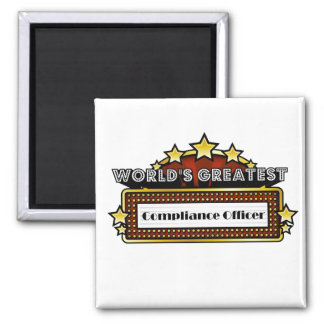 World's Greatest Compliance Officer 2 Inch Square Magnet