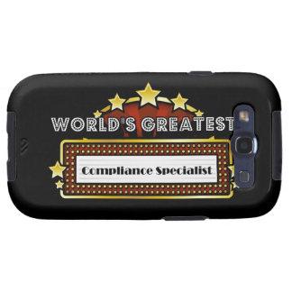World's Greatest Compliance Specialist Samsung Galaxy SIII Cases