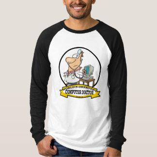 WORLDS GREATEST COMPUTER DOCTOR MEN CARTOON T-Shirt