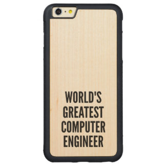 Worlds Greatest Computer Engineer Carved® Maple iPhone 6 Plus Bumper Case