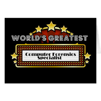 World's Greatest Computer Forensics Specialist Greeting Card