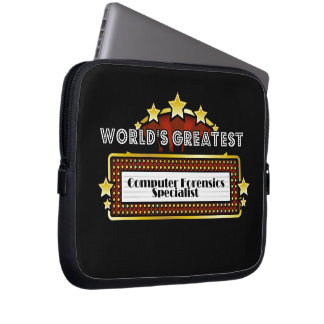 World's Greatest Computer Forensics Specialist Computer Sleeves