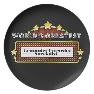 World's Greatest Computer Forensics Specialist Plate