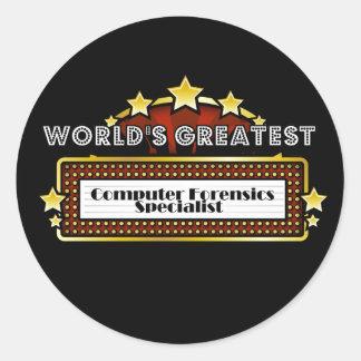World's Greatest Computer Forensics Specialist Sticker