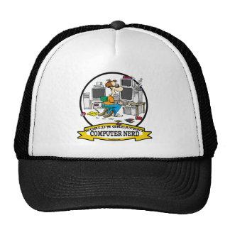 WORLDS GREATEST COMPUTER NERD MEN CARTOON HATS