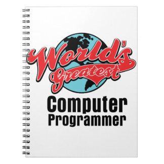 Worlds Greatest Computer Programmer Spiral Notebooks