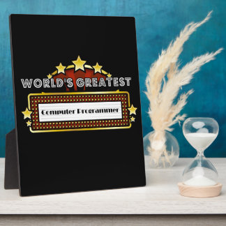 World's Greatest Computer Programmer Plaques
