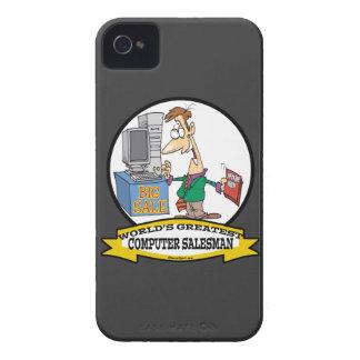 WORLDS GREATEST COMPUTER SALESMAN CARTOON iPhone 4 COVERS