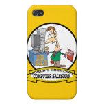 WORLDS GREATEST COMPUTER SALESMAN CARTOON iPhone 4/4S COVER