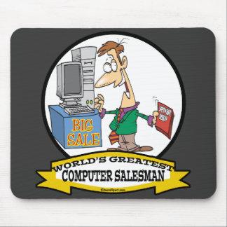 WORLDS GREATEST COMPUTER SALESMAN CARTOON MOUSE PAD