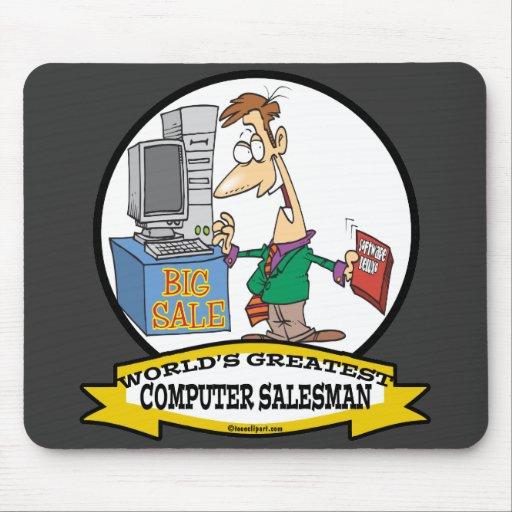 WORLDS GREATEST COMPUTER SALESMAN CARTOON MOUSEPAD
