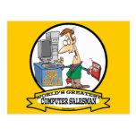 WORLDS GREATEST COMPUTER SALESMAN CARTOON POST CARDS