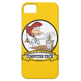 WORLDS GREATEST COMPUTER TECH WOMEN CARTOON iPhone 5 CASES