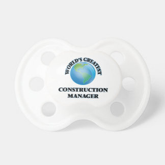 World's Greatest Construction Manager Baby Pacifier