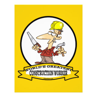 WORLDS GREATEST CONSTRUCTION WORKER CARTOON FLYER