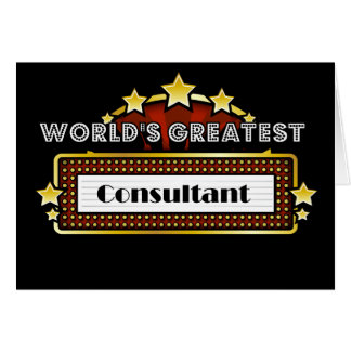 World's Greatest Consultant Card