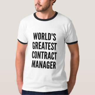 Worlds Greatest Contract Manager T-Shirt