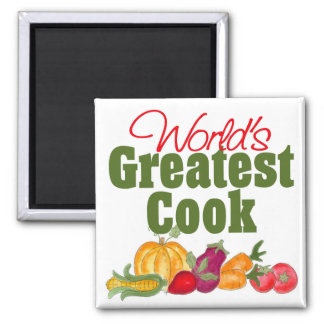 World's Greatest Cook Gift 2 Inch Square Magnet