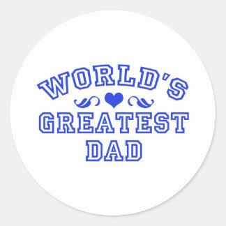 World's greatest - coolest dad classic round sticker