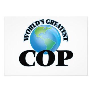 World's Greatest Cop Custom Invitation