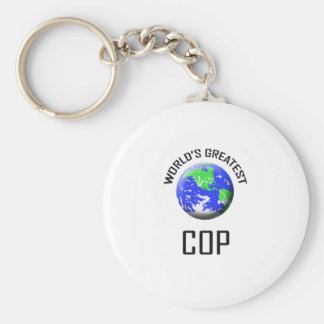 World's Greatest Cop Key Chains