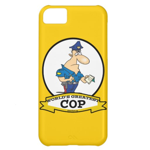 WORLDS GREATEST COP MEN CARTOON COVER FOR iPhone 5C