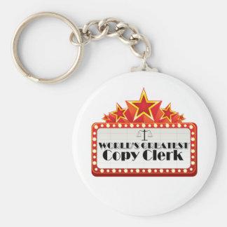 World's Greatest Copy Clerk Basic Round Button Keychain