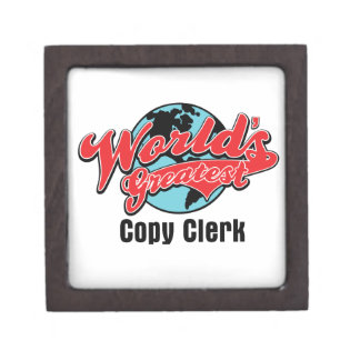 Worlds Greatest Copy Clerk Premium Gift Boxes