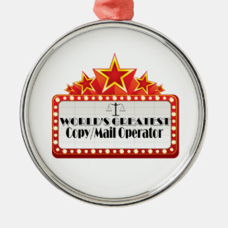 World's Greatest Copy Mail Operator Christmas Ornament