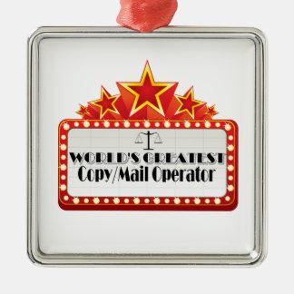 World's Greatest Copy Mail Operator Christmas Tree Ornament