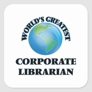 World's Greatest Corporate Librarian Stickers