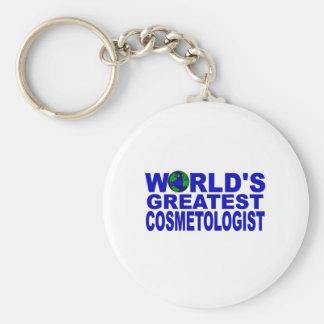 World's Greatest Cosmetologist Basic Round Button Keychain