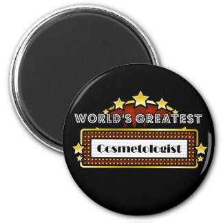 World's Greatest Cosmetologist 2 Inch Round Magnet