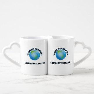 World's Greatest Cosmetologist Couples' Coffee Mug Set