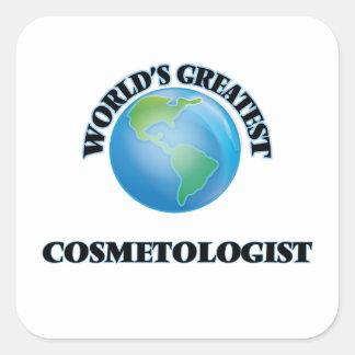 World's Greatest Cosmetologist Square Sticker