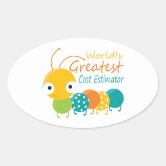 World's Greatest Cost Estimator Oval Sticker