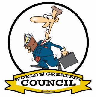 WORLDS GREATEST COUNCIL MEN CARTOON ACRYLIC CUT OUT