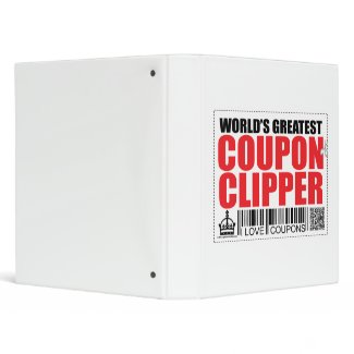 World's Greatest Coupon Clipper binder